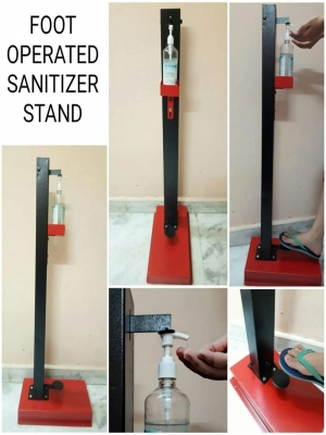 FOOT OPERATED SANITISER STAND